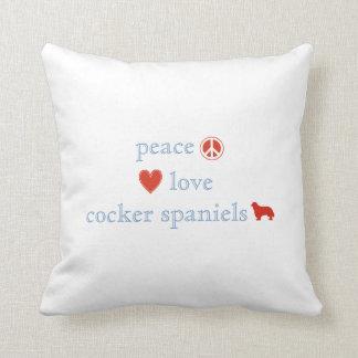 De Cocker-spaniëls van de Liefde van de vrede Sierkussen