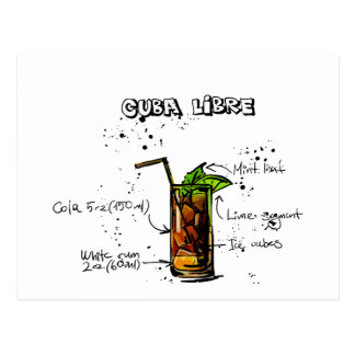 De Cocktail van Cuba Libre Briefkaart