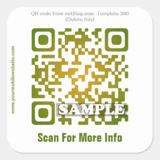 De codesticker van de douane QR (QR codesjabloon Vierkante Sticker