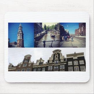 De collage Amsterdam 2 van de foto Muismat