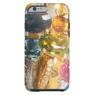 De collage gouden violetkleurig van juwelen tough iPhone 6 hoesje