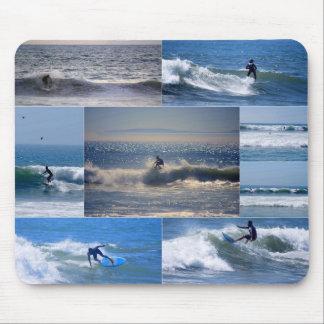 De Collage Mousepad van Californië Surfers Muismat