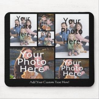 De Collage Mousepad van de Foto van de douane voeg Muismat
