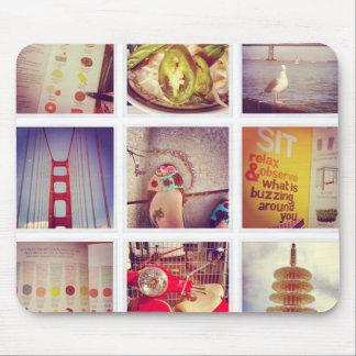 De Collage Mousepad van de Foto van Instagram van Muismat