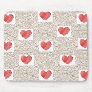 De Collage Mousepad van het hart Muismat