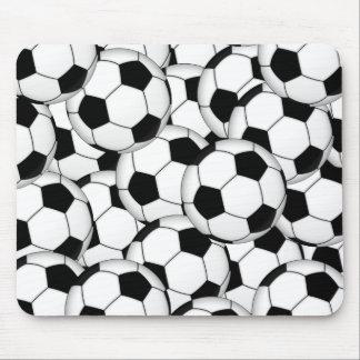 De Collage van de Bal van het voetbal Muismatten