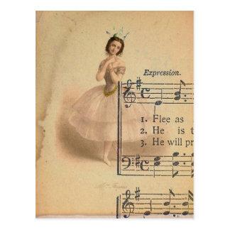 De Collage van de ballerina Briefkaart