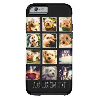 De Collage van de foto met Zwarte Achtergrond Tough iPhone 6 Hoesje