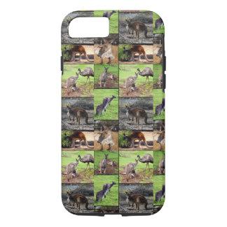 De Collage van de Foto van de kangoeroe, iPhone 8/7 Hoesje