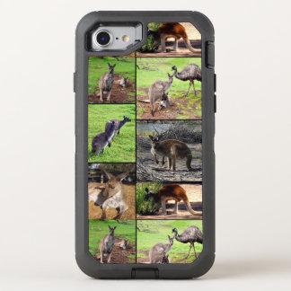 De Collage van de Foto van de kangoeroe, OtterBox Defender iPhone 8/7 Hoesje
