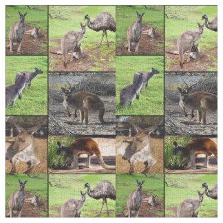 De Collage van de Foto van de kangoeroe, Stof