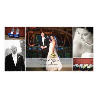 De Collage van de Foto van het huwelijk - dank u Fotokaarten