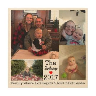 De Collage van de Foto van het Jaar van de familie Hout Afdruk