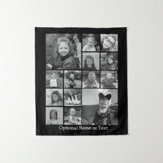 De Collage van de Foto van Instagram - de Zwarte Wandkleed