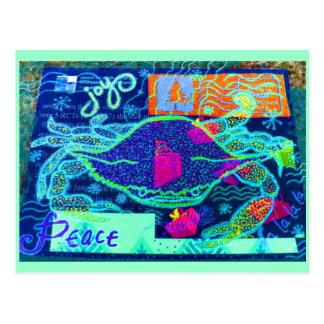 De Collage van de Krab van de vrede Briefkaart