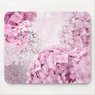 De Collage van de Pastelkleur van de Hydrangea Muismat