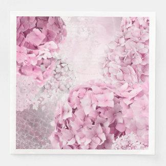 De Collage van de Pastelkleur van de Hydrangea Papieren Servetten