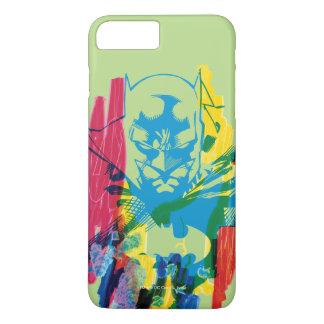 De Collage van de Teller van het Neon van Batman iPhone 8/7 Plus Hoesje