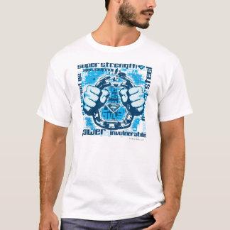 De Collage van de Uitdrukking van de superman T Shirt