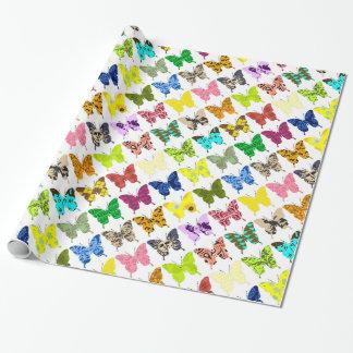 De Collage van de vlinder Cadeaupapier