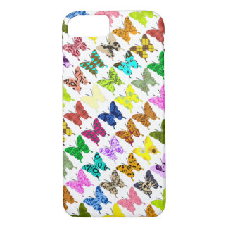 De Collage van de vlinder iPhone 7 Hoesje