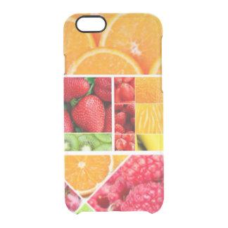 De Collage van het Fruit van de mengeling Doorzichtig iPhone 6/6S Hoesje