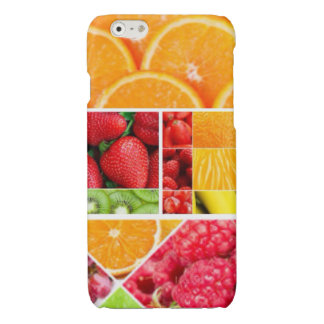 De Collage van het Fruit van de mengeling iPhone 6 Hoesje Glanzend