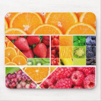 De Collage van het Fruit van de mengeling Muismat