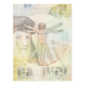De Collage van het Man van Leonardo da Vinci Briefkaart