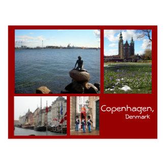 De Collage van Kopenhagen Briefkaart