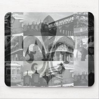 De Collage van New Orleans [Mousepad] Muismat