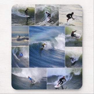 De Collage Verticale Mousepad van Surfers Muismat