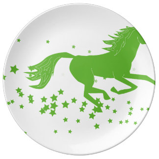 De collectorbord van het paard porseleinen bord