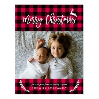 De comfortabele Foto van Kerstmis van het Patroon Briefkaart