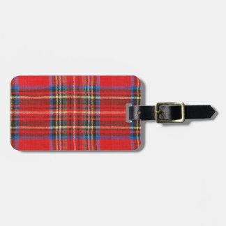 De comfortabele Rode Plaid van het Geruite Schotse Bagagelabel