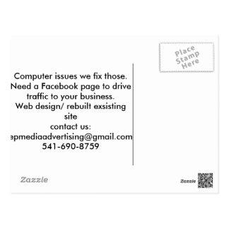 De commerciële Kaart van de Dienst Briefkaart