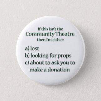 De communautaire Liefdadigheidsinstelling van het Ronde Button 5,7 Cm
