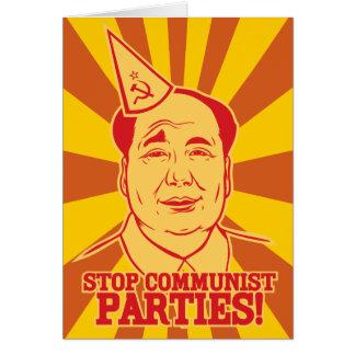 De Communistische Partijen van het einde Briefkaarten 0
