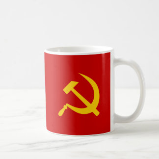 De communistische Russische Hamer en sikkel van de Koffiemok