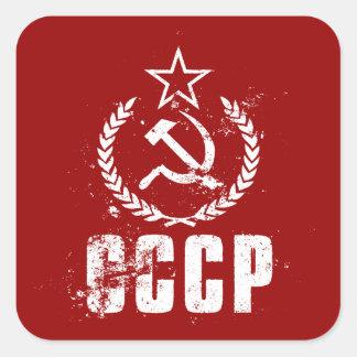 De communistische Stickers van de Witte vlag van