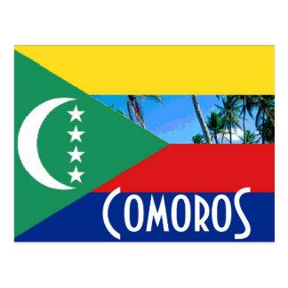 De Comoren de Comoro vlag van Eilanden Briefkaart