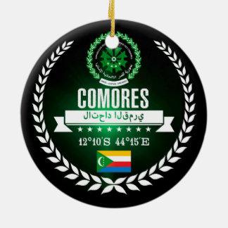 De Comoren Rond Keramisch Ornament