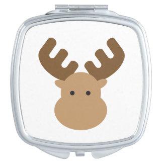 De Compacte Spiegel van Amerikaanse elanden Makeup Spiegel
