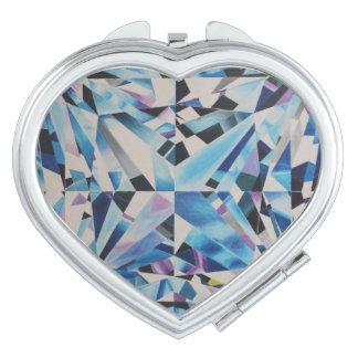 De Compacte Spiegel van de Diamant van het glas Makeup Spiegeltje