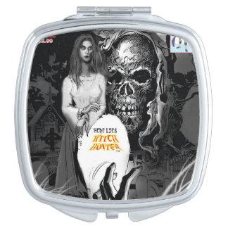 De Compacte Spiegel van de Jager van de heks Make-up Spiegels