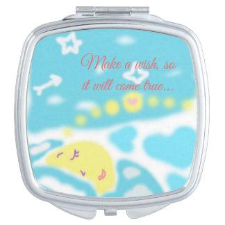 De Compacte Spiegel van de Maan van de slaap Make-up Spiegel
