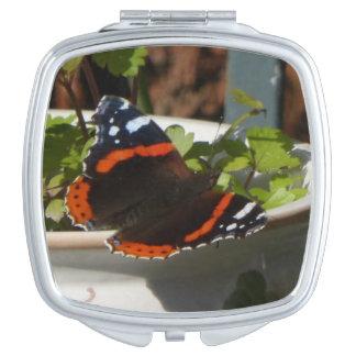 De Compacte Spiegel van de Vlinder van Atalanta Make-up Spiegel
