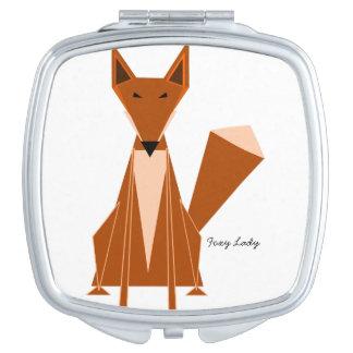De Compacte Spiegel van de vos Makeup Spiegeltje