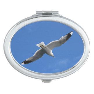 De compacte spiegel van de zeemeeuw make-up spiegeltjes