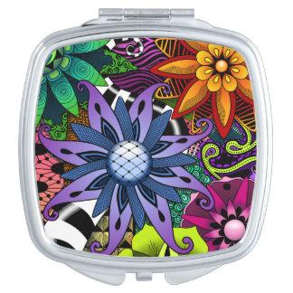 De Compacte Spiegel van Flowertastic Reisspiegeltje